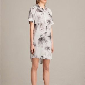 ALLSAINTS Elen Silk Shirt Dress